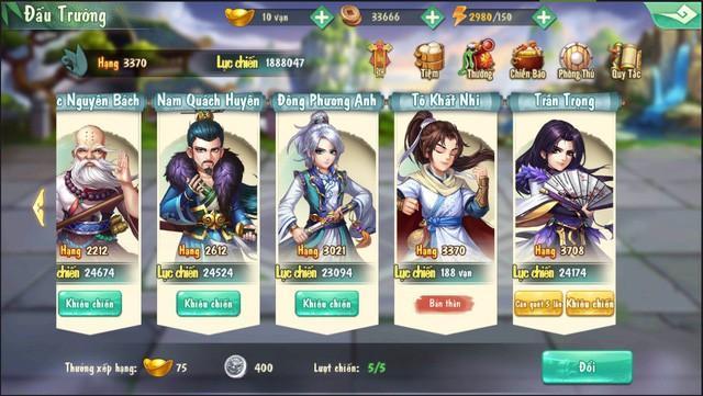 Tiếu Ngạo VNG: lên chọn tướng nào buff ghép team