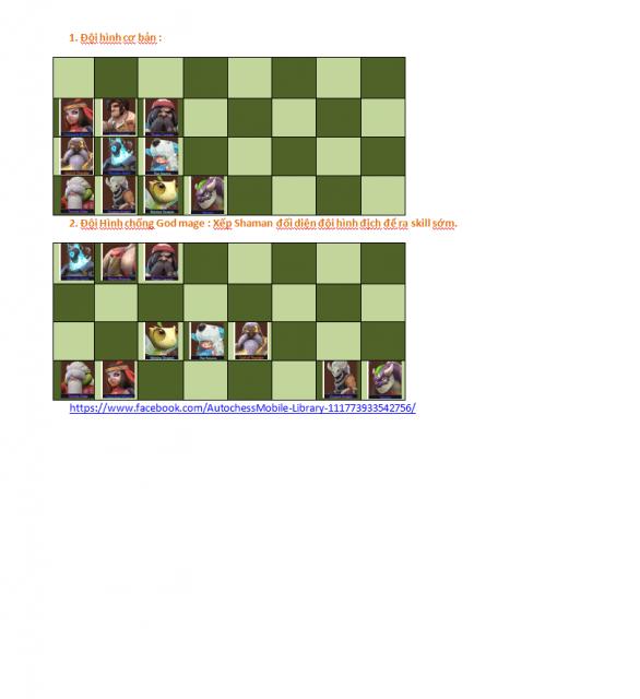 Đội hình auto chess mạnh nhất