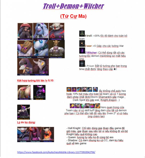 Đội hìnhDemon - Witcher - War