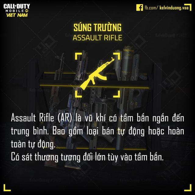 các loại súng trong cod mobile