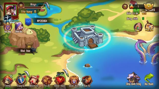 Hải tặc làng lá hướng dẫn tham gia tính năng quần đảo