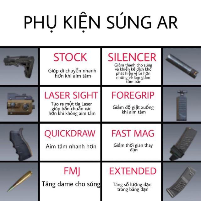 phụ kiện súng AR codm