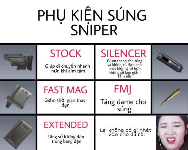 phụ kiện súng Sniper codm