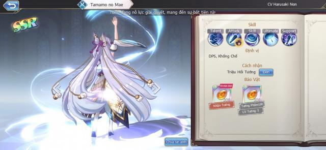 cach choi Tamamo Goddess of Genesisvi