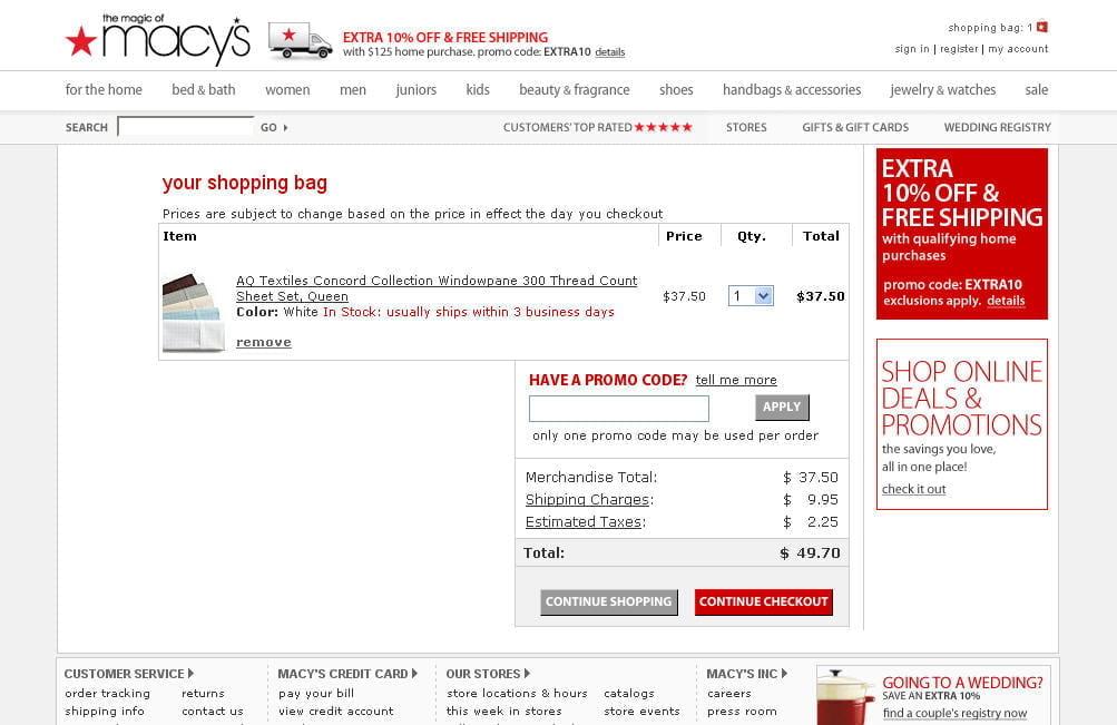 Trang web chính thức của Macys