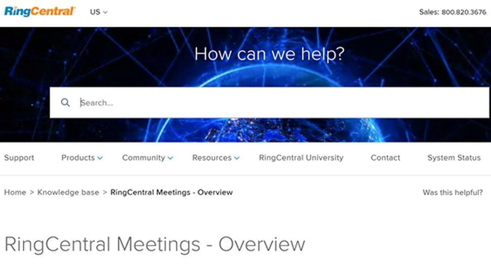 Các cuộc họp của RingCentral 6
