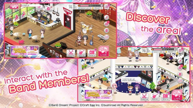 1594497007 687 Download BanG Dream Girls Band Party MOD Easy Combo IOS