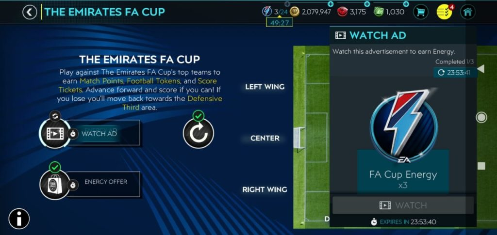 1594719607 809 How to watch ads in FIFA Mobile 20