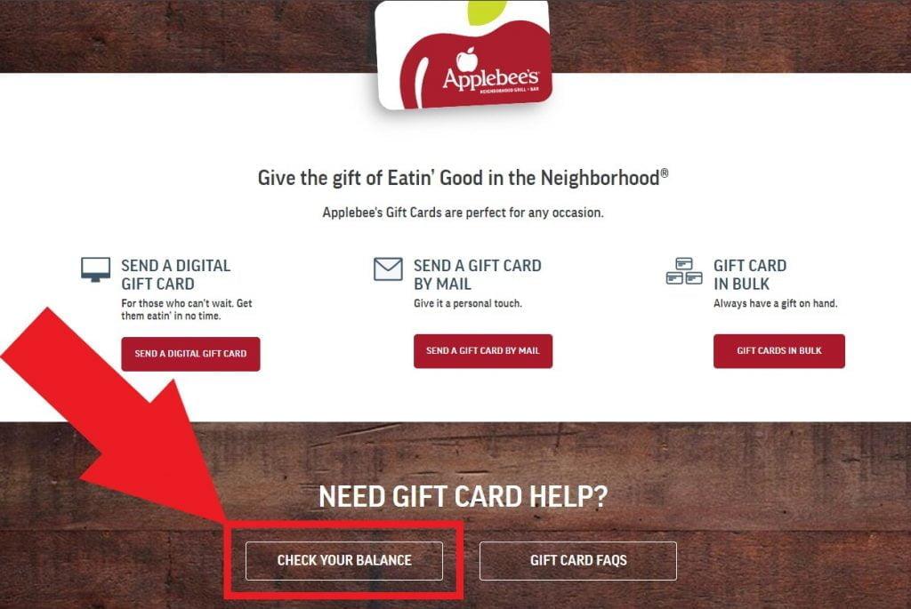 Kiểm tra số dư thẻ quà tặng Applebee trên trang web chính thức