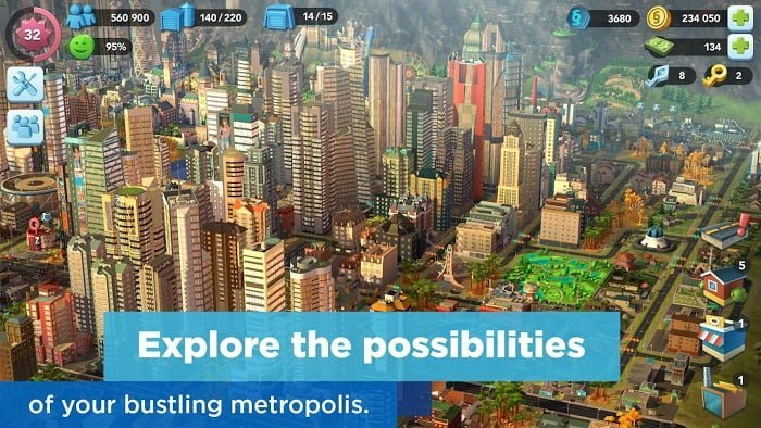 1595187604 215 Hack game SimCity BuildIt MOD TienLevel10Keys Mien phi