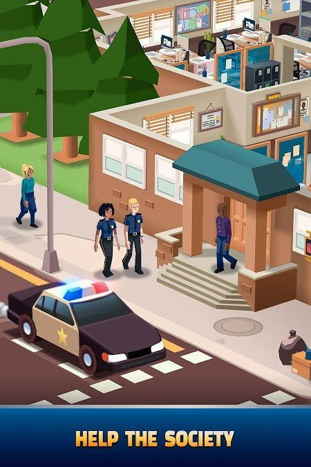 1595241605 429 Hack game Idle Police Tycoon MOD APK IOS Moi nhat