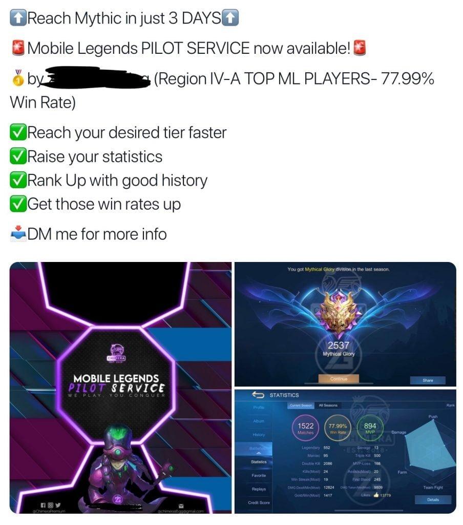 Tài khoản Mobile Legends bị hack