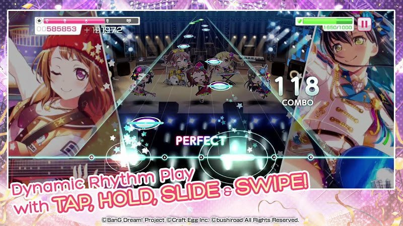 Download BanG Dream Girls Band Party MOD Easy Combo IOS