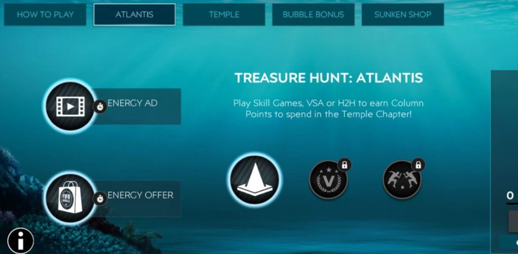 Truy tìm kho báu FIFA Mobile 20 Atlantis