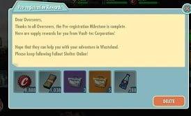 Fallout Shelter Mã trực tuyến để đổi quà