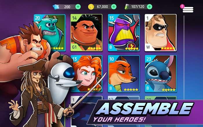 Hack Disney Heroes Battle Mode MOD Skill HackFreeze Tieng viet