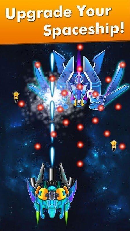 Hack Galaxy Attack Alien Shooter MOD TienVIP 12God Viet hoa