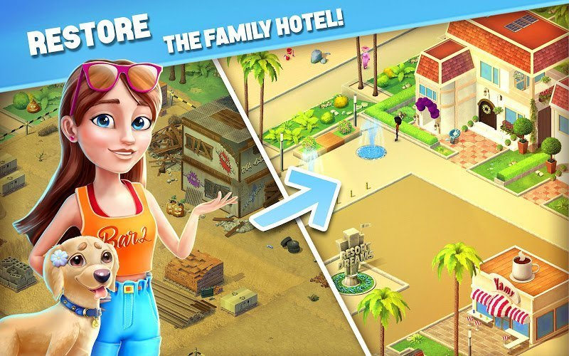 Hack Resort Hotel Bay Story MOD Many Features Tieng viet
