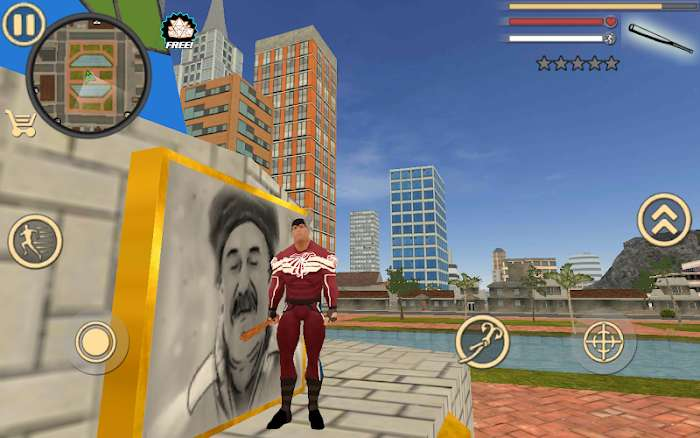 Hack Rope Hero Vice Town MOD TienPointsVIP Tieng viet