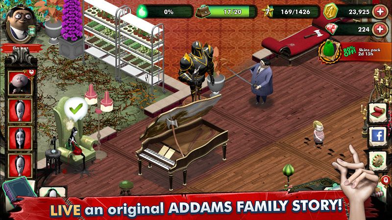 Hack The Addams Family – Mystery Mansion MOD Vo han