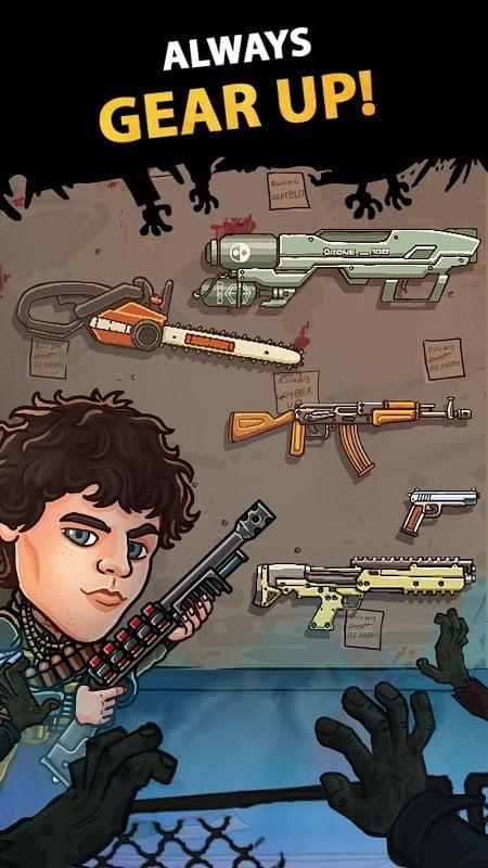 Hack Zombieland Double Tapper MOD APK IOSGod Mien phi