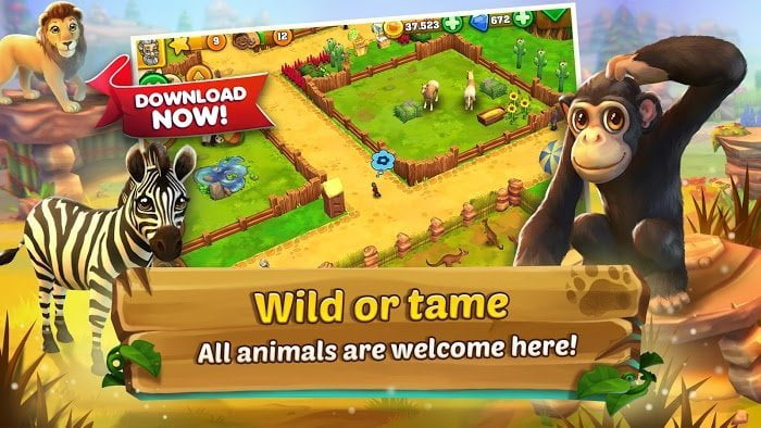Hack Zoo 2 Animal Park MOD Tien xuKim cuong Viet