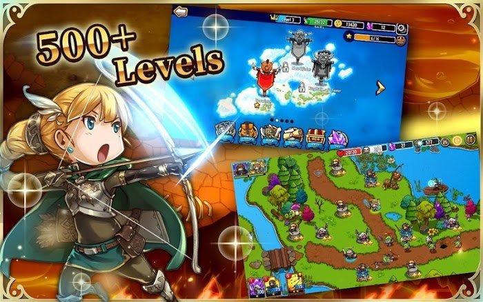Hack game Crazy Defense Heroes MOD APK IOSOne Hit Moi