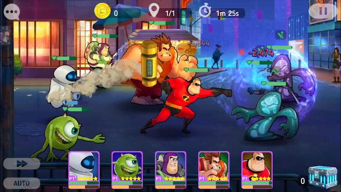 Hack game Disney Heroes Battle Mode MOD Skill HackFreeze Crack