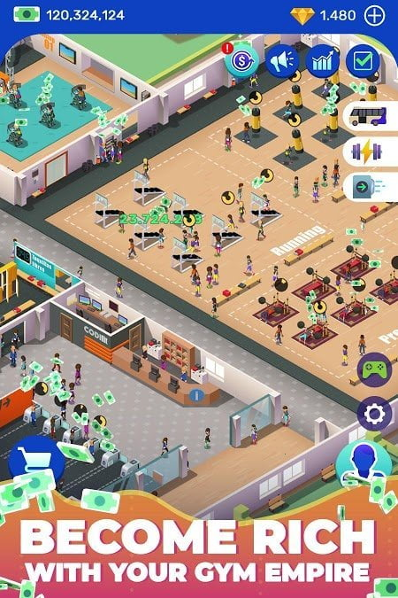 Hack game Download Idle Fitness Gym Tycoon MOD APK v154