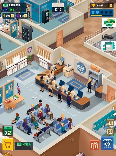 Hack game Idle Police Tycoon MOD APK IOS Mien phi