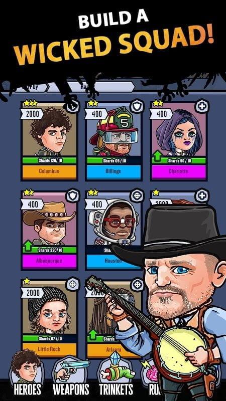 Hack game Zombieland Double Tapper MOD APK IOSGod Tieng viet