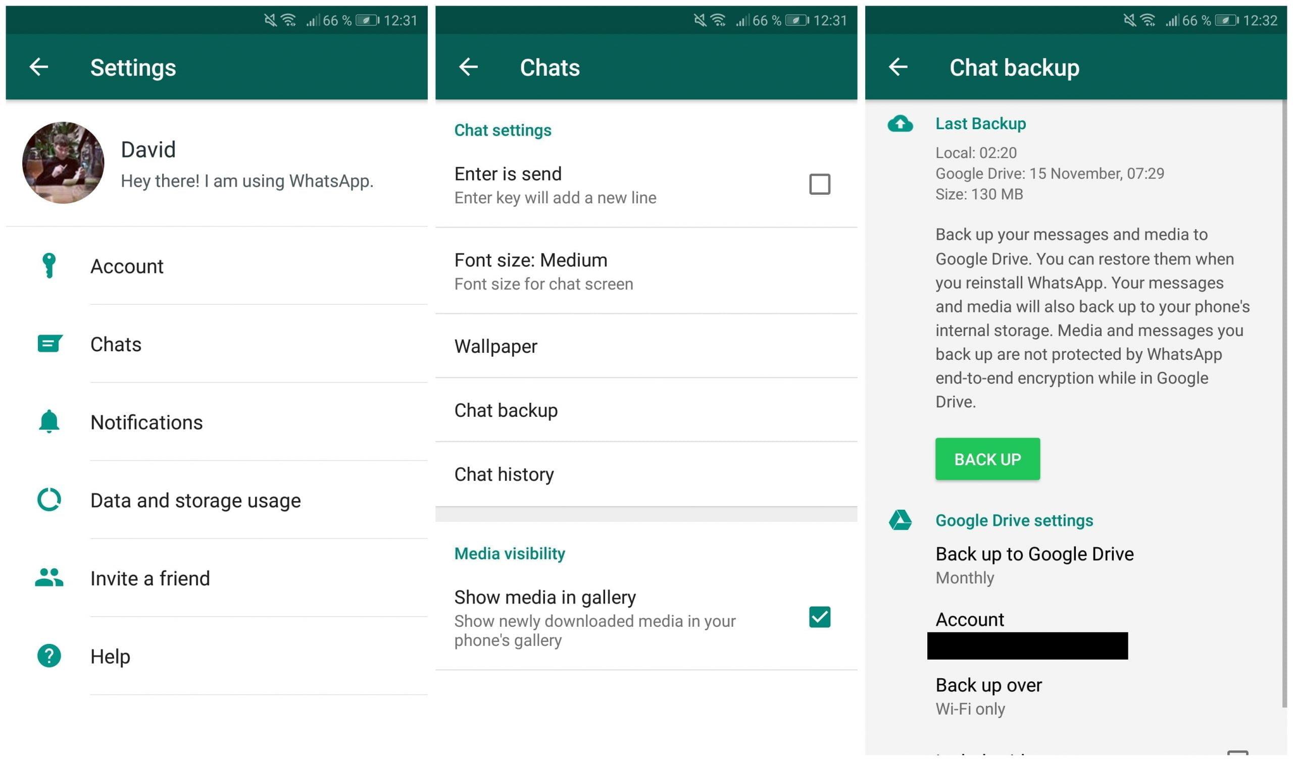 Sao lưu trò chuyện WhatsApp