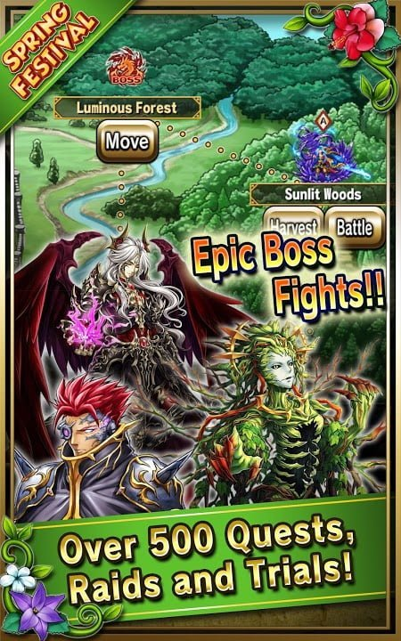 Tai game Brave Frontier MOD Multi Features Tieng viet