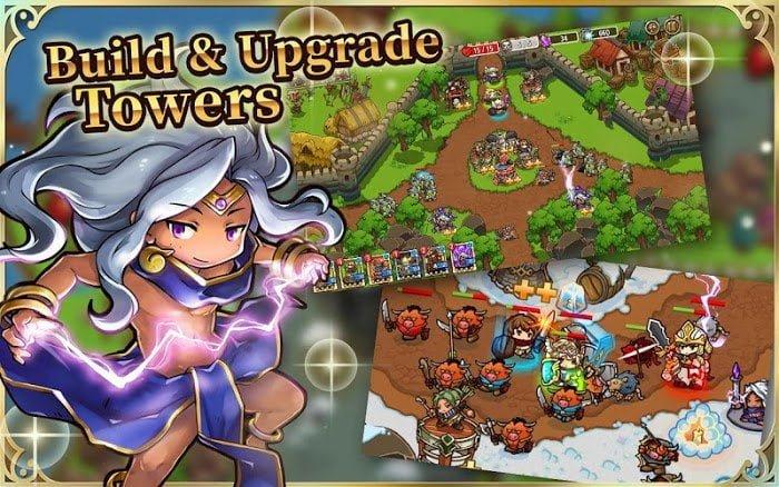 Tai game Crazy Defense Heroes MOD APK IOSOne Hit Tieng