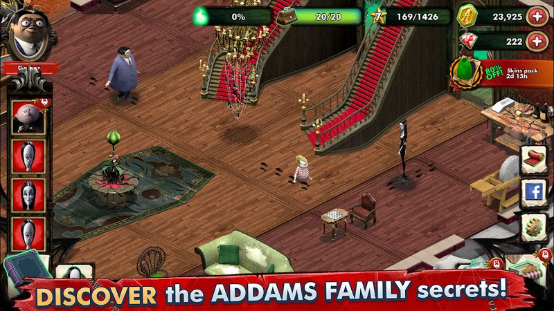 Tai game The Addams Family – Mystery Mansion MOD Vo