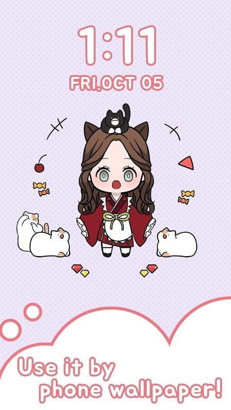 Tai game Unnie Doll MOD Mo khoa Viet hoa