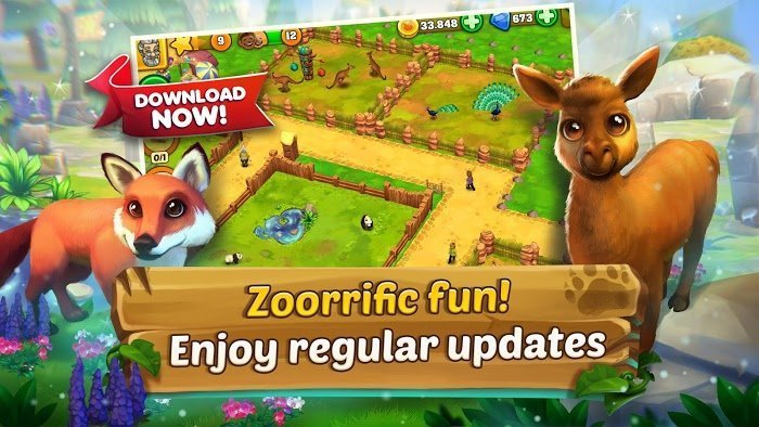 Tai game Zoo 2 Animal Park MOD Tien xuKim cuong