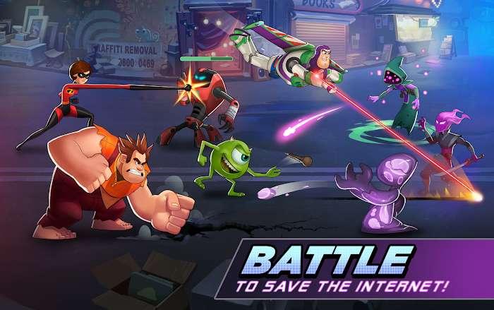 Tai hack Disney Heroes Battle Mode MOD Skill HackFreeze Tieng