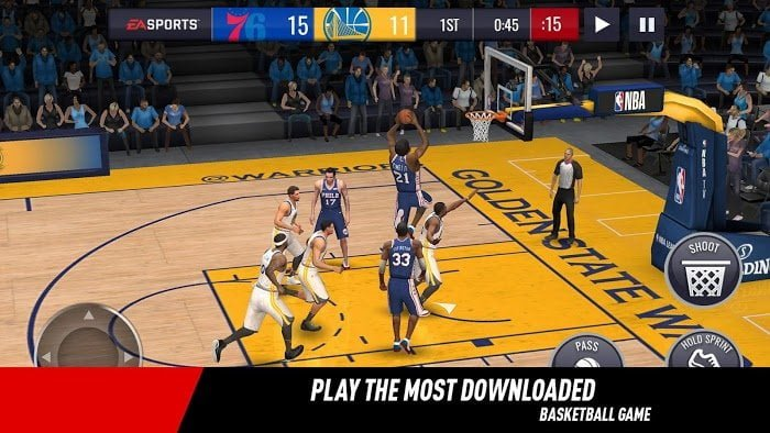 Tai hack NBA LIVE Mobile Basketball Mien phi