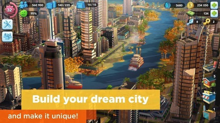 Tai hack SimCity BuildIt MOD TienLevel10Keys Crack