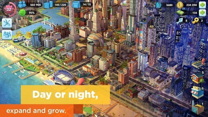 Tai hack SimCity BuildIt MOD TienLevel10Keys Mien phi