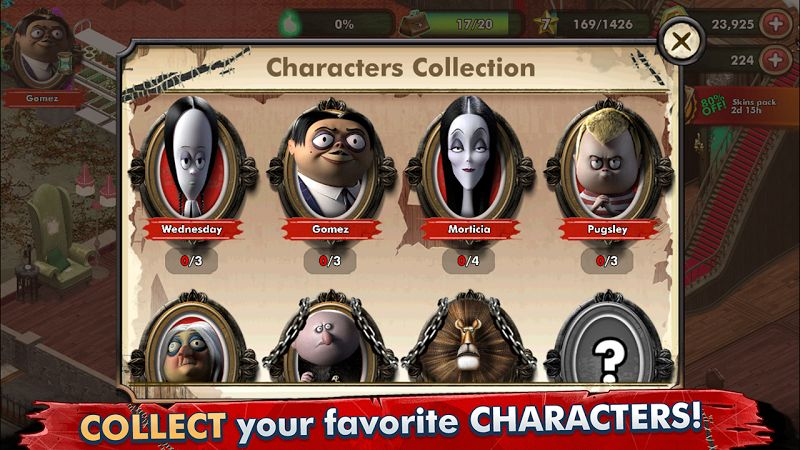 Tai hack The Addams Family – Mystery Mansion MOD Vo