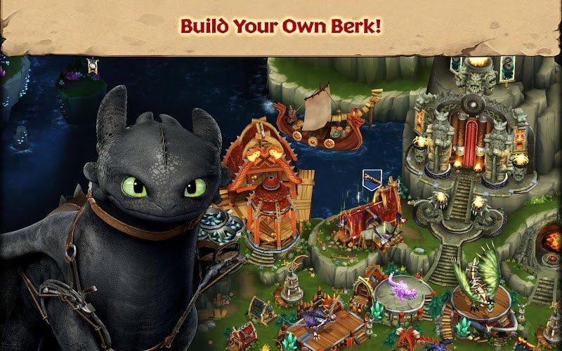 dragons rise of berk mod unlimited runescardsfish moddroid