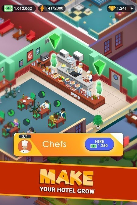hotel empire tycoon mod unlimited money moddroid 1