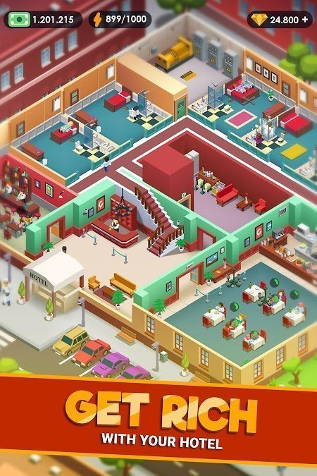 hotel empire tycoon mod unlimited money moddroid