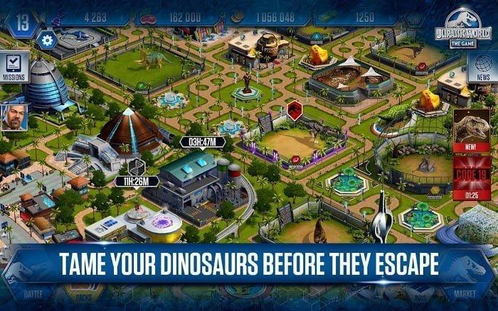 jurassic world the game mod free shoppingvip moddroid