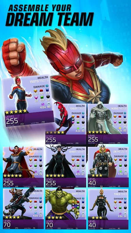 marvel puzzle quest mod unlimited crystals moddroid 4