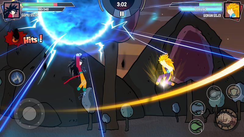 stickman warriors super dragon shadow fight mod unlimited power moddroid 2