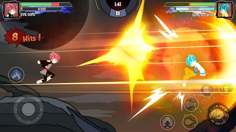 stickman warriors super dragon shadow fight mod unlimited power moddroid 4