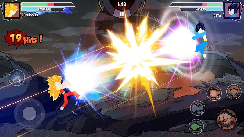 stickman warriors super dragon shadow fight mod unlimited power moddroid